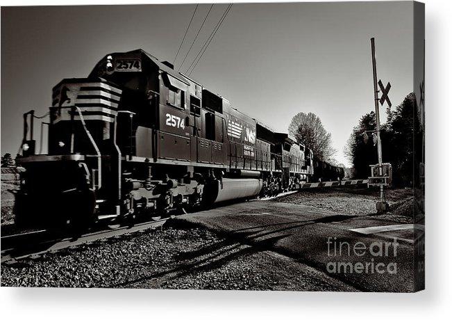 Norfolk Southern Acrylic Print featuring the photograph Rail Crossing by Mark East