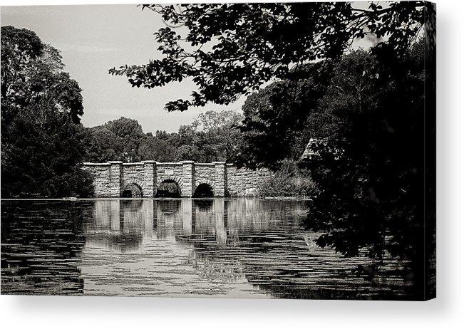 Setauket Acrylic Print featuring the photograph Setauket Mill Pond by Dick Wood
