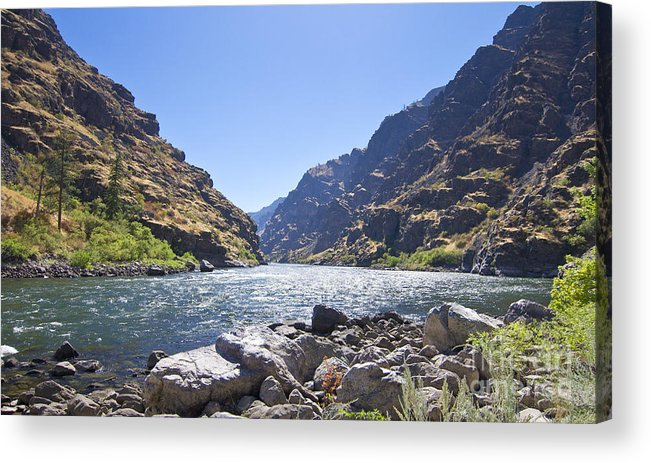 Kevin Felts Acrylic Print featuring the photograph The Snake River In Hells Canyon by Kevin Felts
