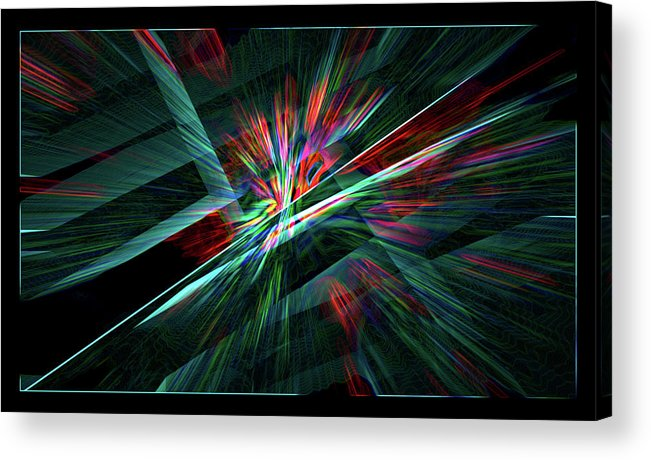 Abstract Acrylic Print featuring the digital art Color Burst by Chris Brannen