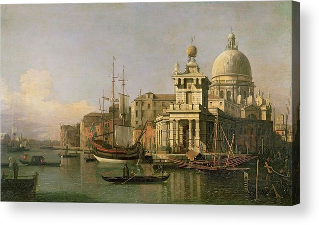 A View Of The Dogana And Santa Maria Della Salute Acrylic Print featuring the painting A View Of The Dogana And Santa Maria Della Salute by Antonio Canaletto