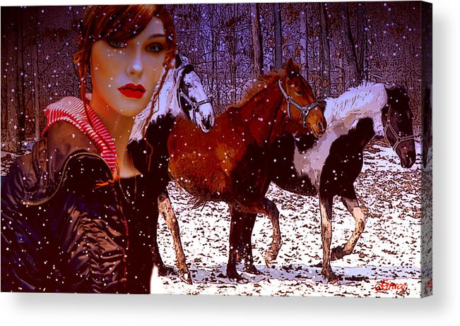 Wild Acrylic Print featuring the photograph A Wild Heart by Julie Grace