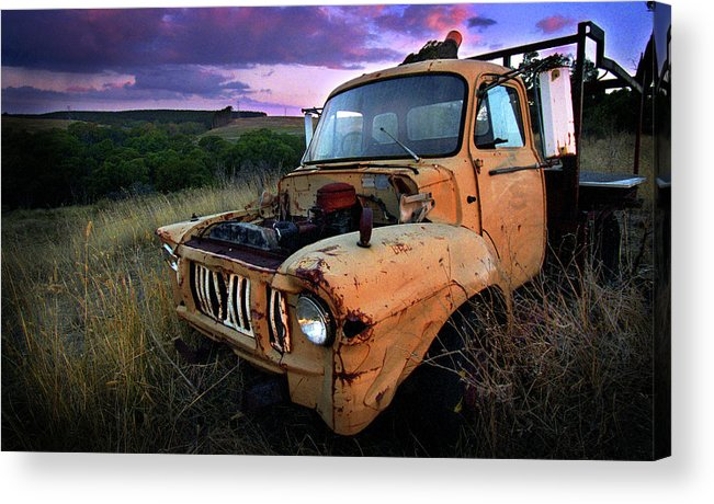 Truck Acrylic Print featuring the photograph Abandoned by Tim Nichols