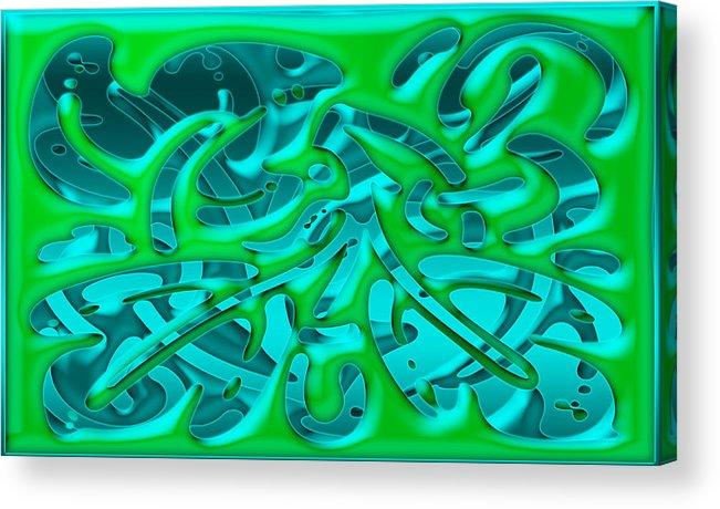Digital Art Acrylic Print featuring the digital art Artwork 113 by Evelyn Patrick