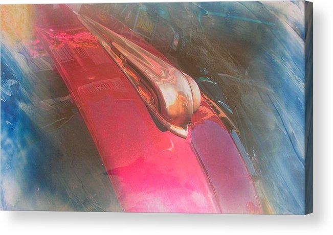 Digital Wax Mixed Media Acrylic Print featuring the mixed media Auto Series 2 by John Vandebrooke