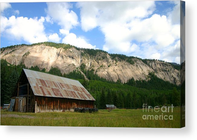 Barn Acrylic Print featuring the photograph Beauty And The Barn. by Patrick Godfrey