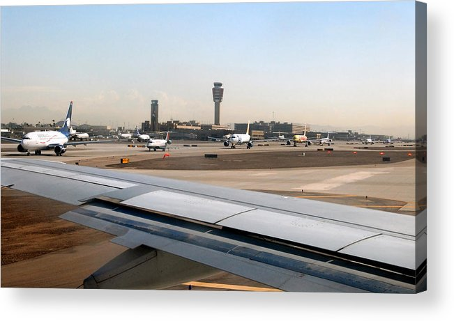 Photography Acrylic Print featuring the photograph Busy Day At Sky Harbor by David Lee Thompson