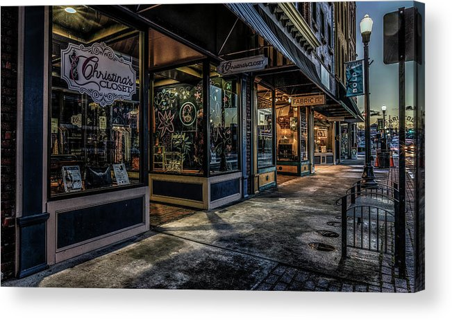 State Street Bristol Tennessee Acrylic Print featuring the photograph Christina's Closet by Dion Wiles