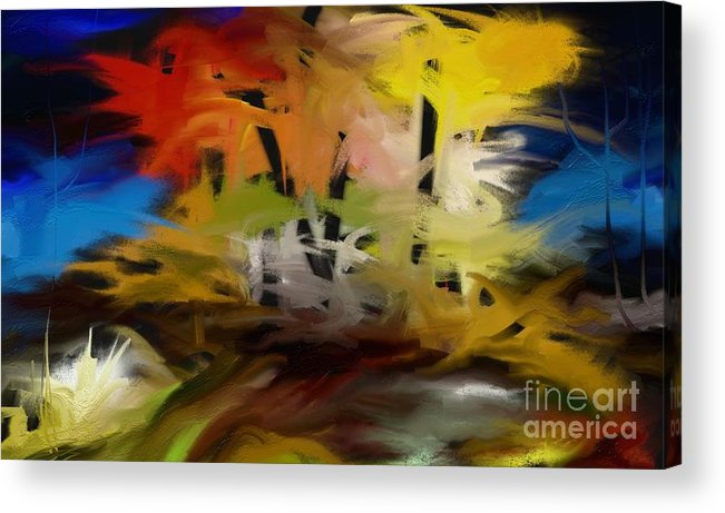 Digital Acrylic Print featuring the painting Crazy Nature by Rushan Ruzaick