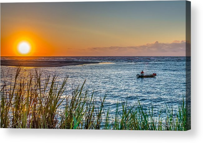 Fishing Acrylic Print featuring the photograph Fishing At Pawleys by Mike Covington