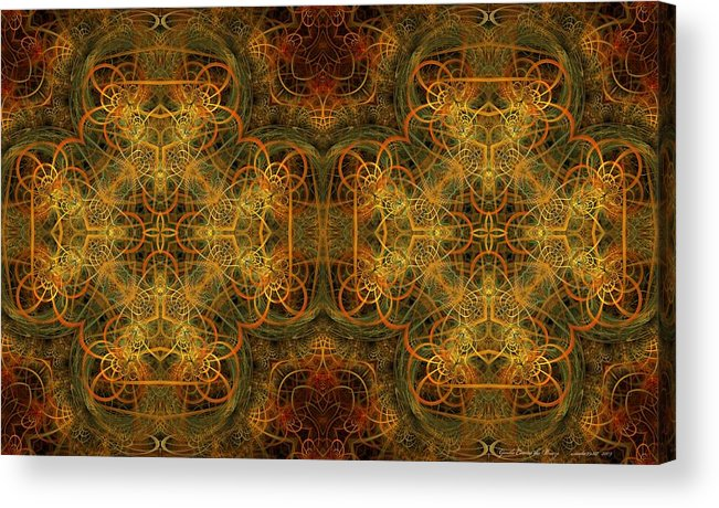 Fractal Acrylic Print featuring the digital art Gentle Comes The Breeze by Gayle Odsather