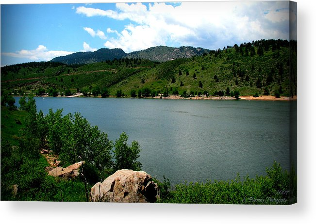 Horsetooth Reservoir Acrylic Print featuring the photograph Horsetooth Reservoir Summer by Aaron Burrows