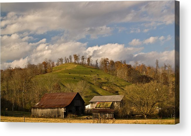 Kentucky Acrylic Print featuring the photograph Kentucky Mountain Farmland by Douglas Barnett