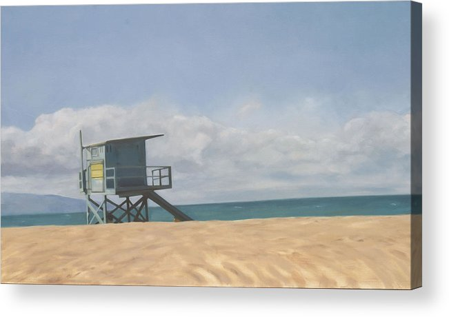 Beach Acrylic Print featuring the painting Lifeguard Tower by Merle Keller
