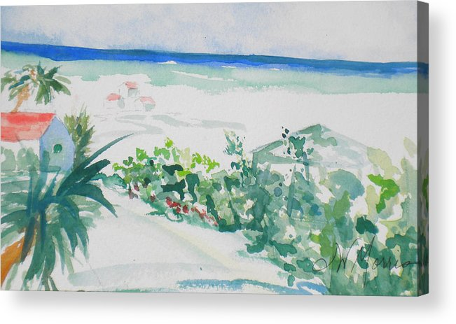 Beach Cottage Acrylic Print featuring the painting My Beach Cottage In Siesta Key by Jill Morris