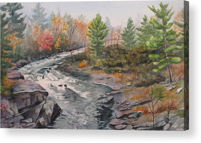 Burleigh Acrylic Print featuring the painting Old Burleigh Stream by Debbie Homewood