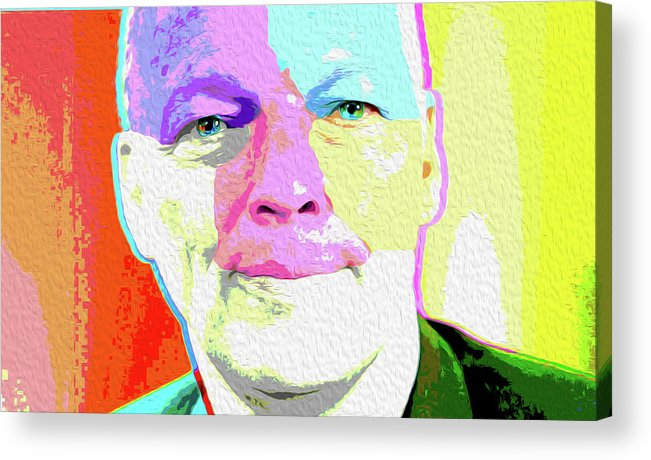 Pink Floyd Acrylic Print featuring the painting Pink Floyd 3773,gilmour By Nicholas Nixo Efthimiou by Never Say Never