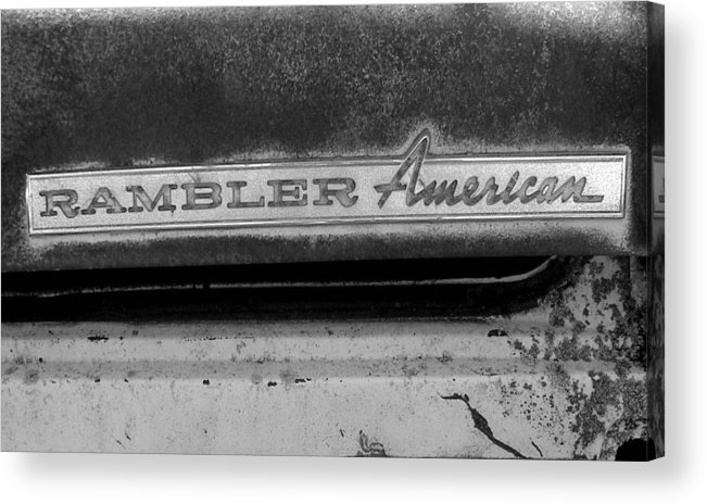 Car Acrylic Print featuring the photograph Rambler American by Audrey Venute