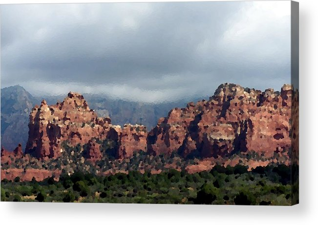 Red Acrylic Print featuring the photograph Red Rocked by Rodger Mansfield