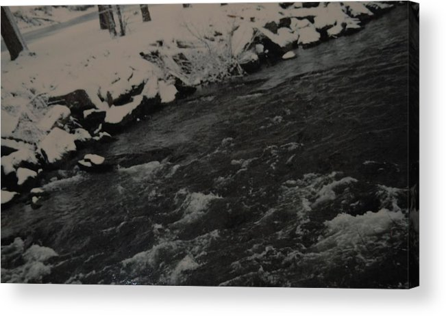 Landscape Acrylic Print featuring the photograph Running Water by Rob Hans