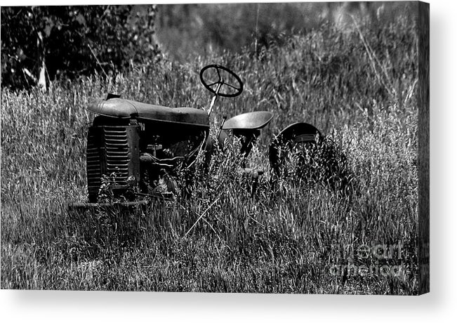 Tractor Acrylic Print featuring the photograph Rusting Relic by Patrick Godfrey