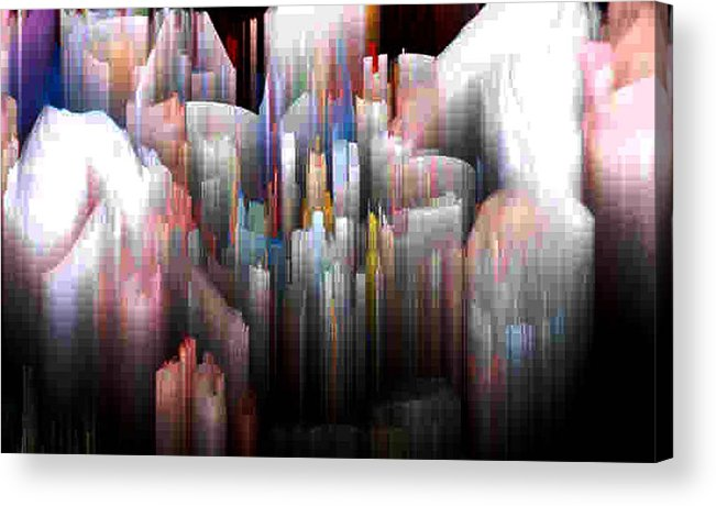 Abstract Acrylic Print featuring the digital art Salnen by Lyle Crump