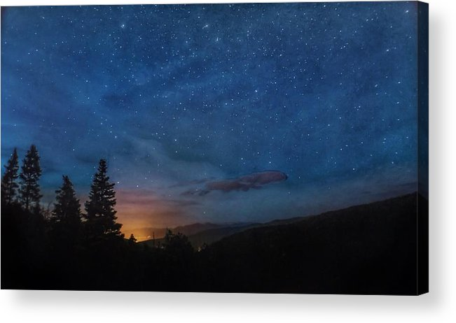 Night Acrylic Print featuring the photograph Sangre De Cristo Hideaway by Tanner Williams