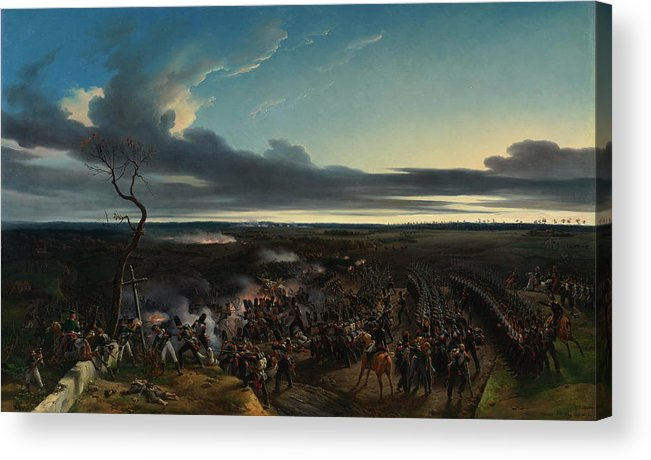 Aristocrat Acrylic Print featuring the painting The Battle Of Montmirail by Emile-Jean-Horace Vernet