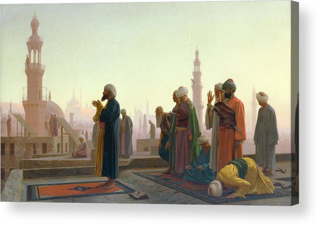 The Acrylic Print featuring the painting The Prayer by Jean Leon Gerome