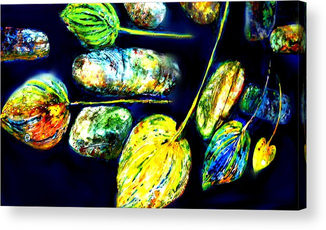 Rocks Acrylic Print featuring the mixed media Through A Child's Eyes by Mary Sonya Conti