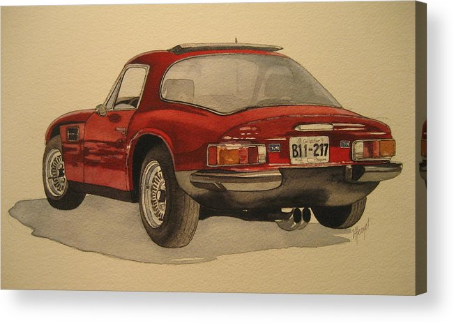 Car Acrylic Print featuring the painting Trevors Tvr by Victoria Heryet