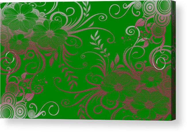 Digital Art Acrylic Print featuring the digital art Wall Flower 2 by Evelyn Patrick