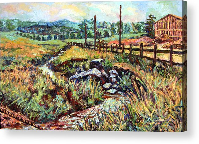 Landscape Paintings Acrylic Print featuring the painting Stroubles Creek by Kendall Kessler