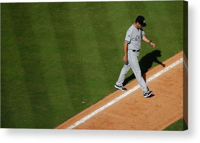Robin Ventura Acrylic Print featuring the photograph Chicago White Sox V Houston Astros 3 by Scott Halleran