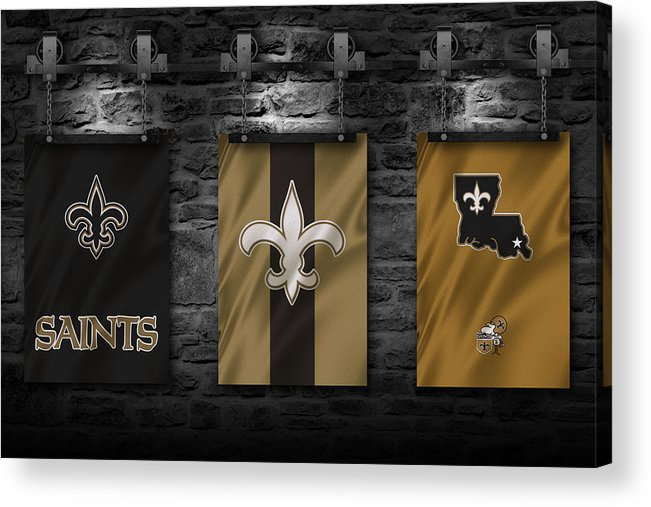 Saints Acrylic Print featuring the photograph New Orleans Saints by Joe Hamilton