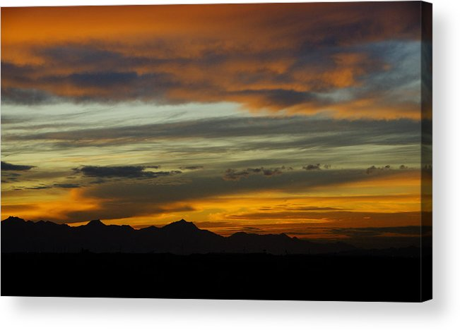 Sunset Acrylic Print featuring the photograph A Break In The Storm by Saija Lehtonen