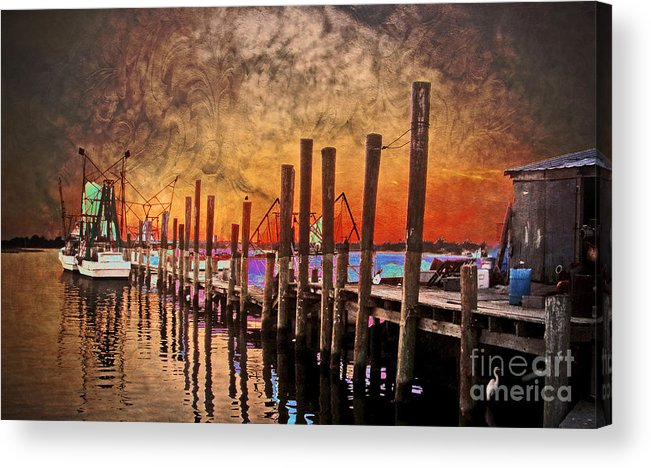 North Carolina Acrylic Print featuring the photograph Acid Washed by Kelley Freel-Ebner