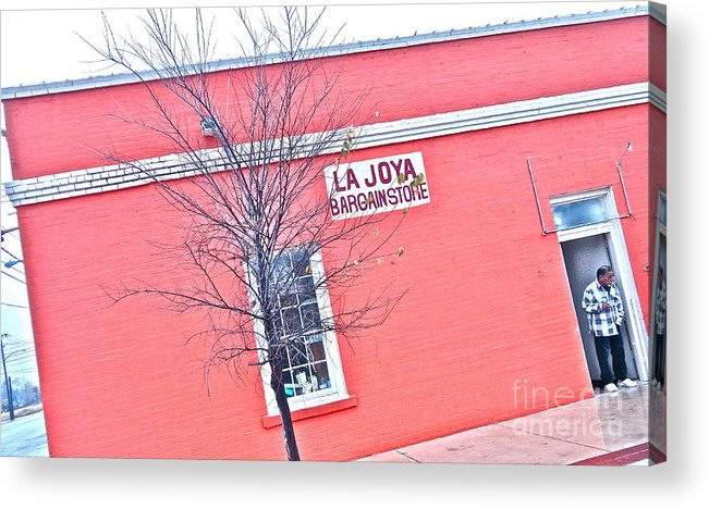 Used Clothing Store Acrylic Print featuring the photograph Bryan Downtown Texas by Chuck Taylor