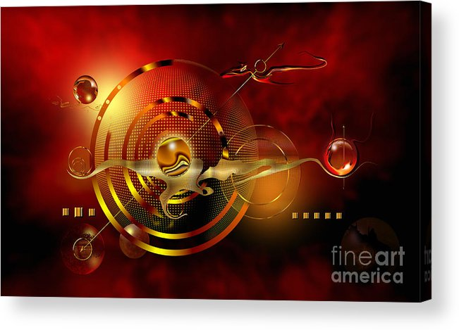 Highly Imaginative Acrylic Print featuring the digital art Dore Dans Le Universe by Franziskus Pfleghart