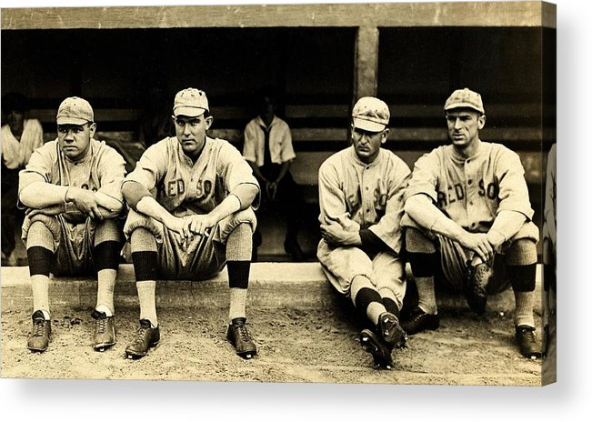 Babe Ruth Acrylic Print featuring the photograph Early Red Sox by Benjamin Yeager