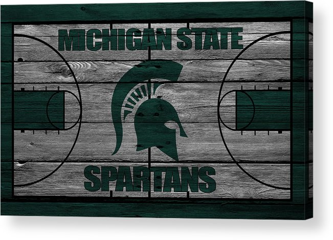 Spartans Acrylic Print featuring the photograph Michigan State Spartans by Joe Hamilton