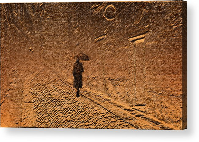 Mystical Acrylic Print featuring the photograph Mystical Journey Of The Shadow Of Your Soul In Extraneous World by Jenny Rainbow
