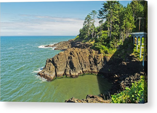 Rocks Acrylic Print featuring the photograph Otter Crest Loop Viewpoint by Richard Risely