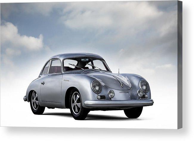 Porsche Acrylic Print featuring the digital art Outlaw 356 by Douglas Pittman
