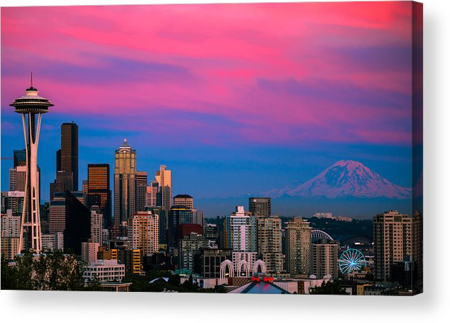 Seattle Acrylic Print featuring the photograph Picturesque Seattle by Abhay P