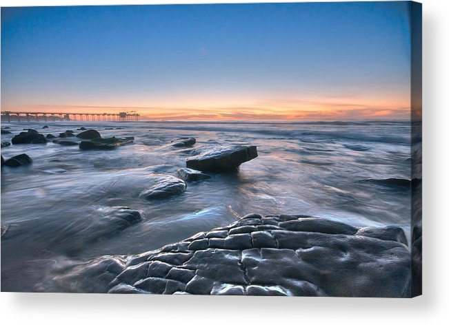 Acrylic Print featuring the photograph Scripps Pierr Low Tide by Lee Bertrand