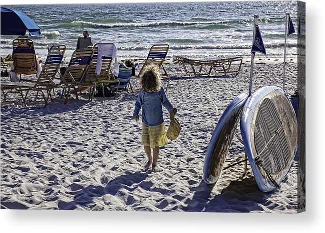 Summer Acrylic Print featuring the photograph Simpler Times 2 - Miami Beach - Florida by Madeline Ellis
