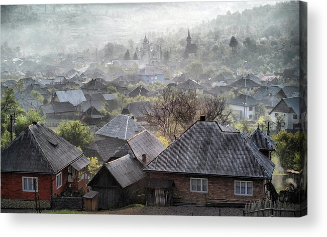Roof Acrylic Print featuring the photograph Spring Morning by Andrei Nicolas -