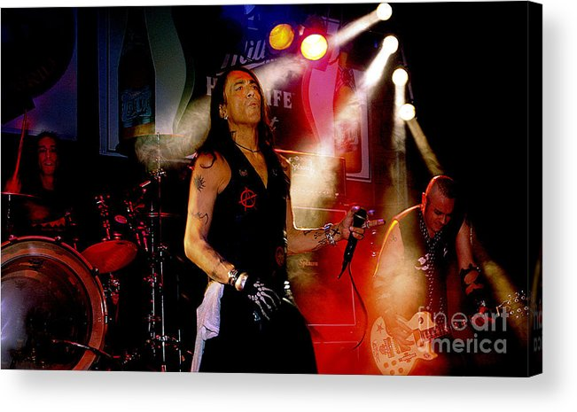 Stephen_pearcy_ratt Acrylic Print featuring the photograph Stephen Pearcy Of Ratt by Bruce Crummy