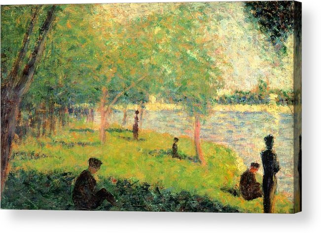 Art Acrylic Print featuring the painting Study On La Grande Jatte by Georges Seurat